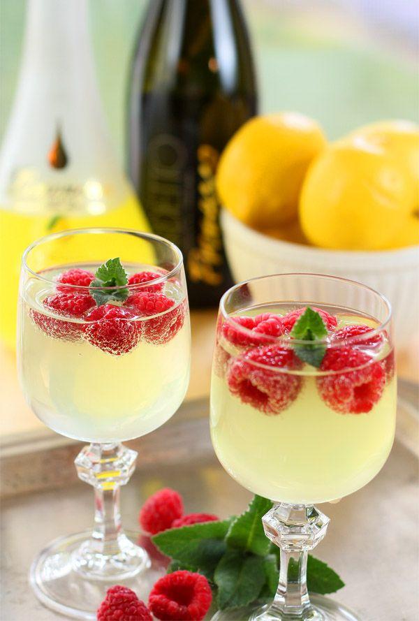 Raspberry Limoncello Prosecco Cooler