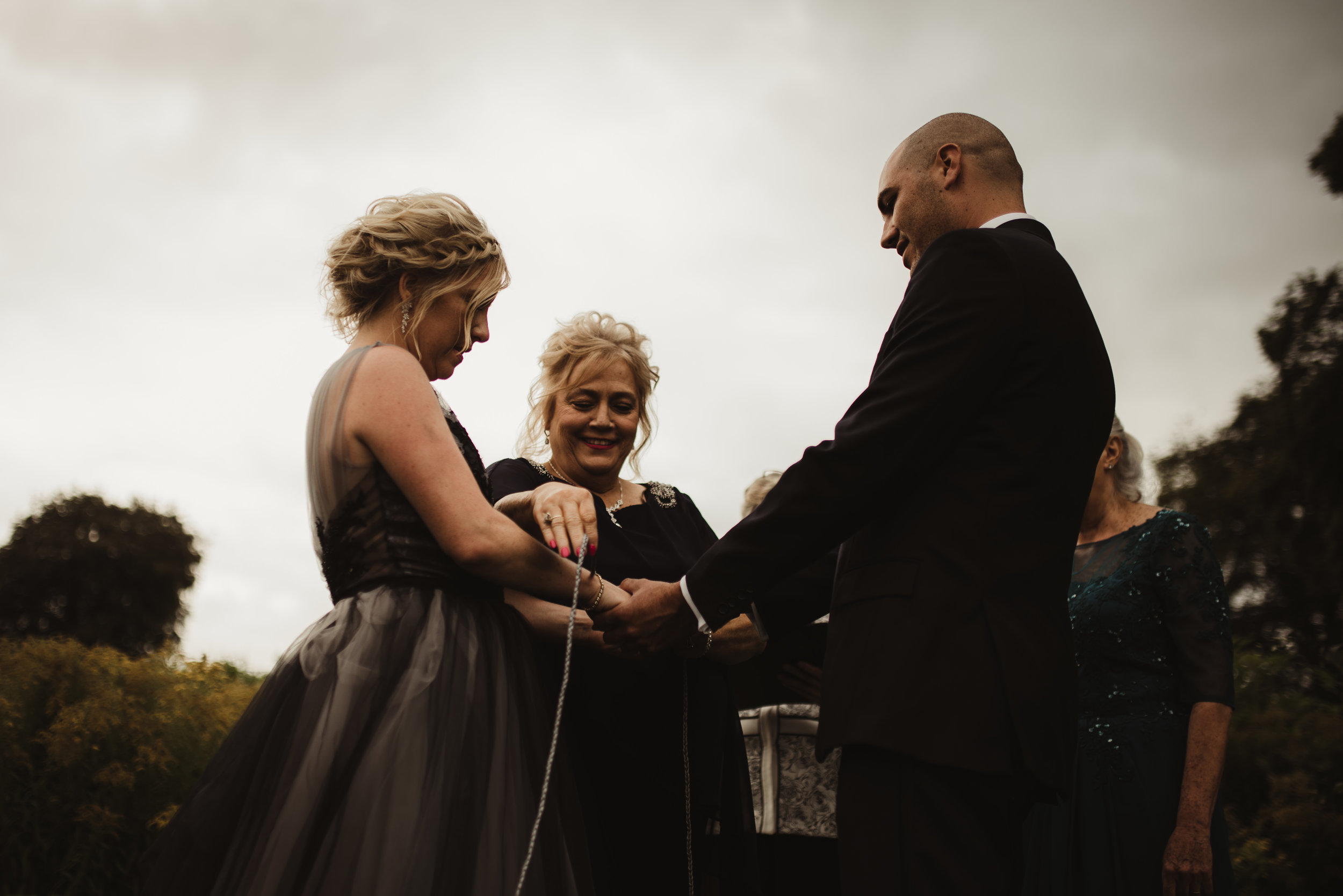 Lunasa Events Irish destination wedding - handbinding ceremony