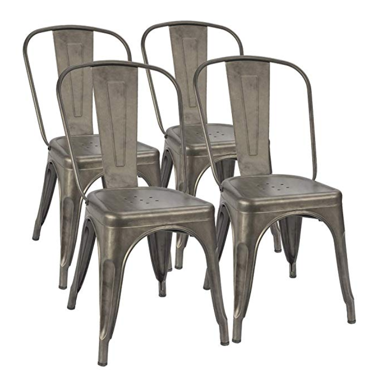 RUSTIC INDUSTRIAL DINING CHAIRS (QTY: 72)