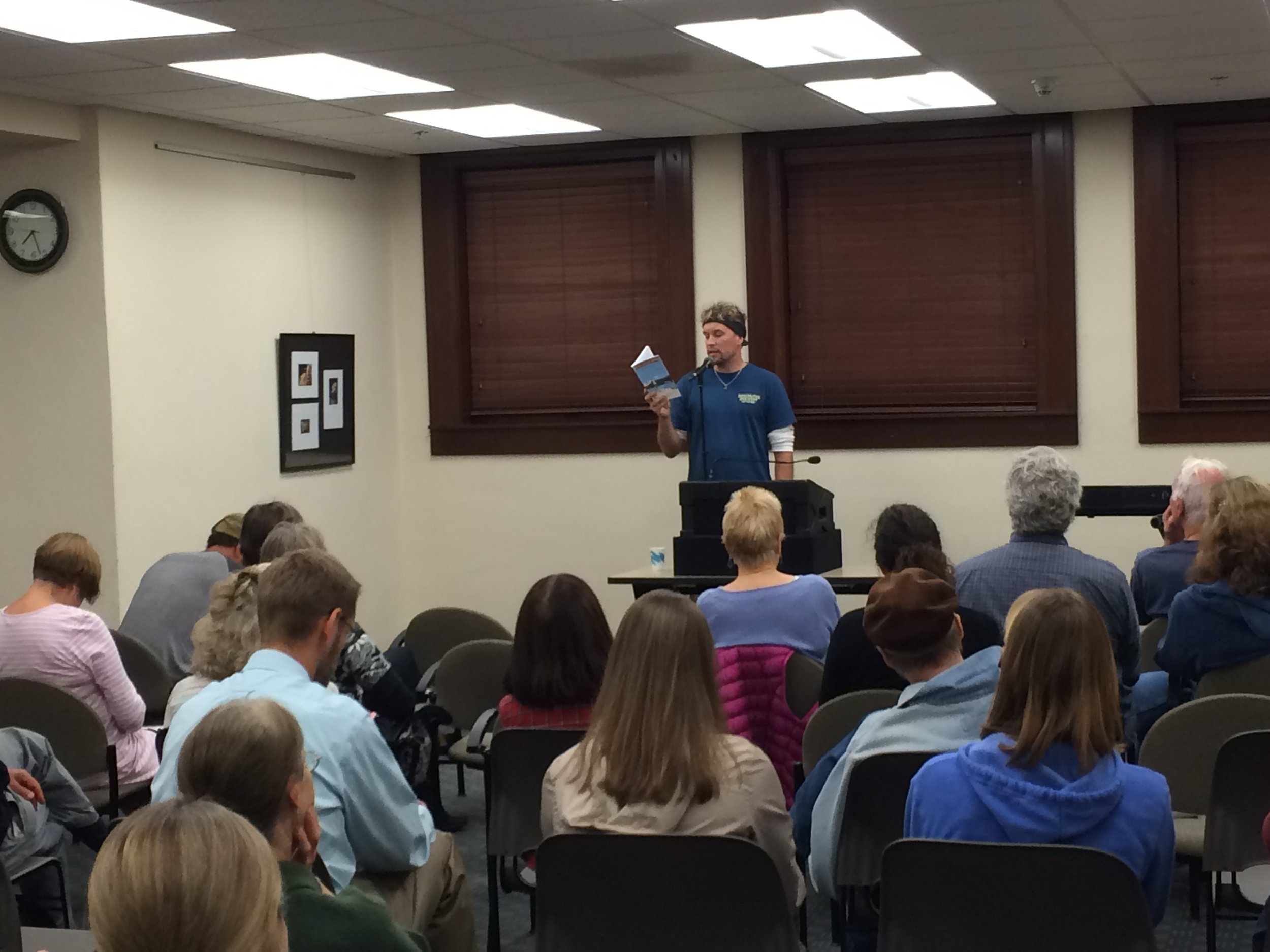 Jake speaking at the Ashland Public Library in Oregon
