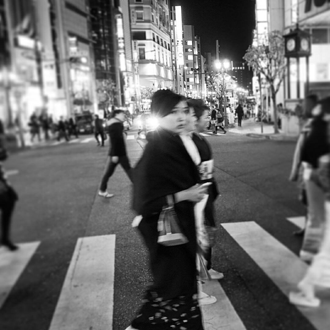 on the streets of Kobe.