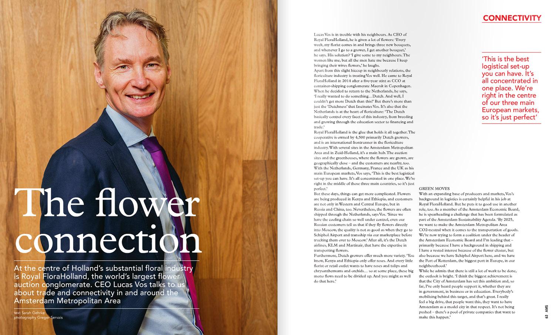 Lucas Vos  CEO bij Royal FloraHolland