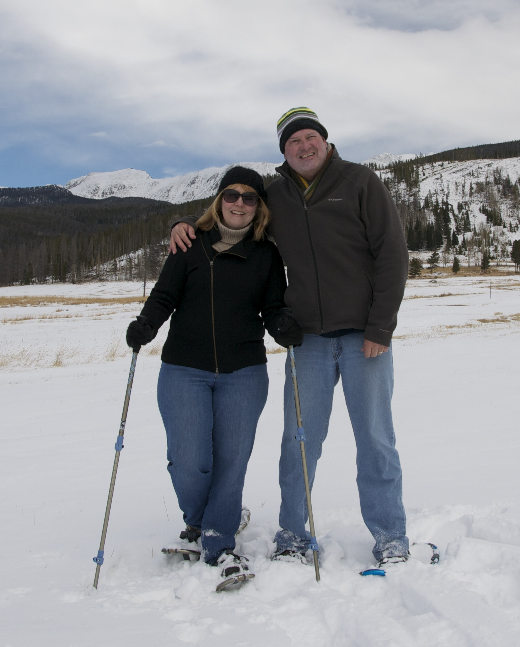 Snowshoeing on the Front Range