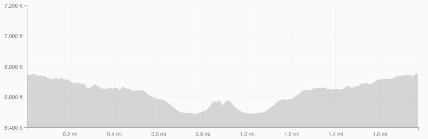 Tenderfoot elevation profile