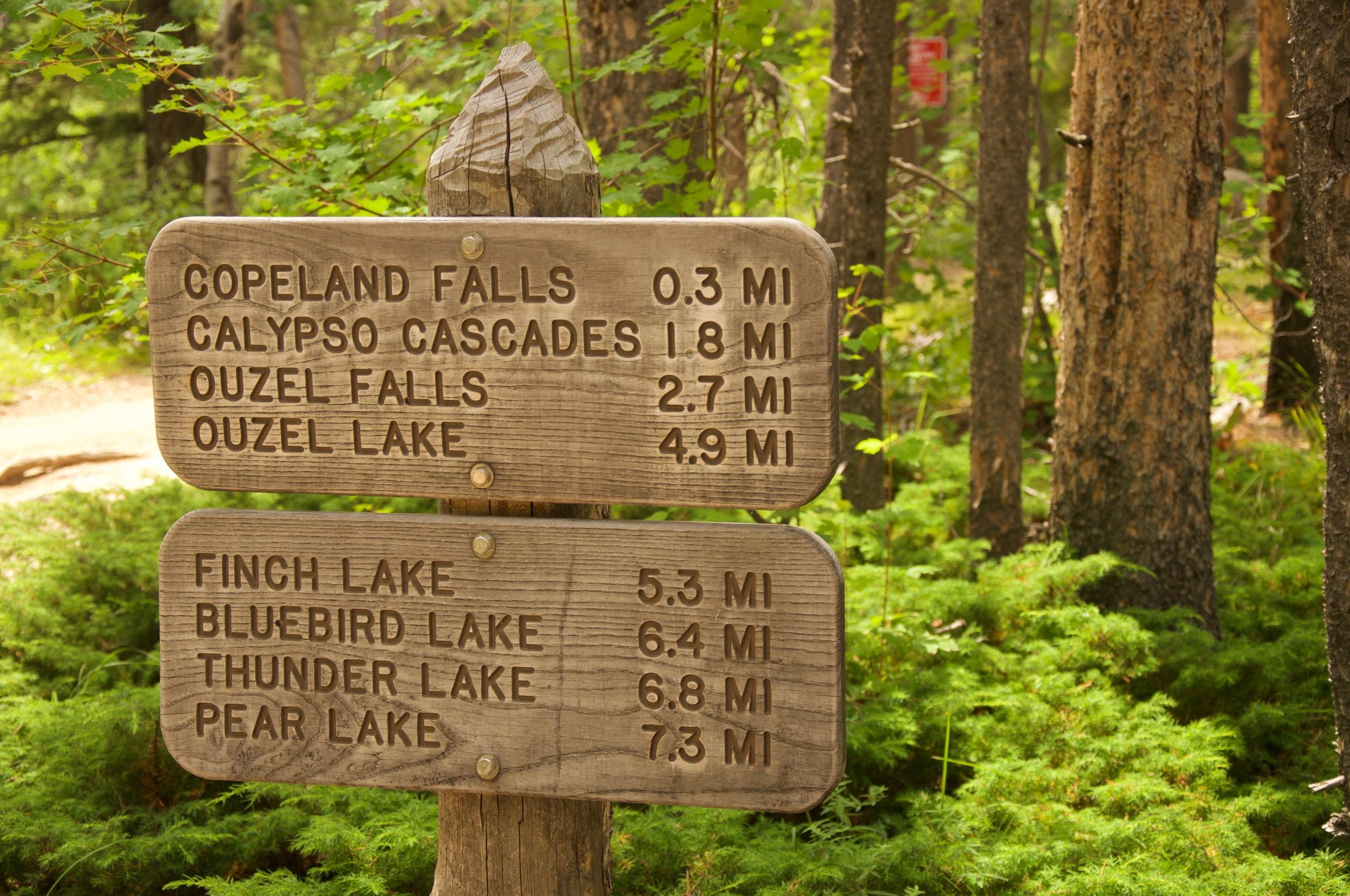 Ouzel Falls Sign