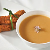 Crawfish Sweet Potato Chowder with Roasted Chilies