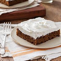 Sweet Potato Cake with Honey Swiss Buttercream