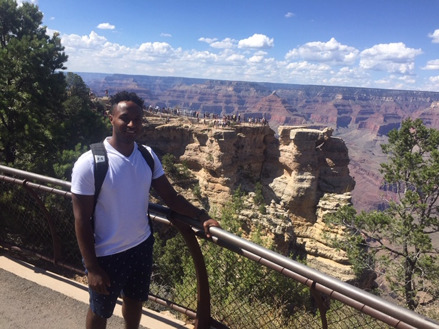 Hobs, our son, at the Grand Canyon