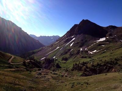 Yankee Boy Basin in the Colorado Mountains near Ouray, CO