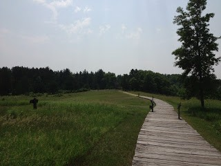 Boardwalk through the historic townsite of Crow Wing.