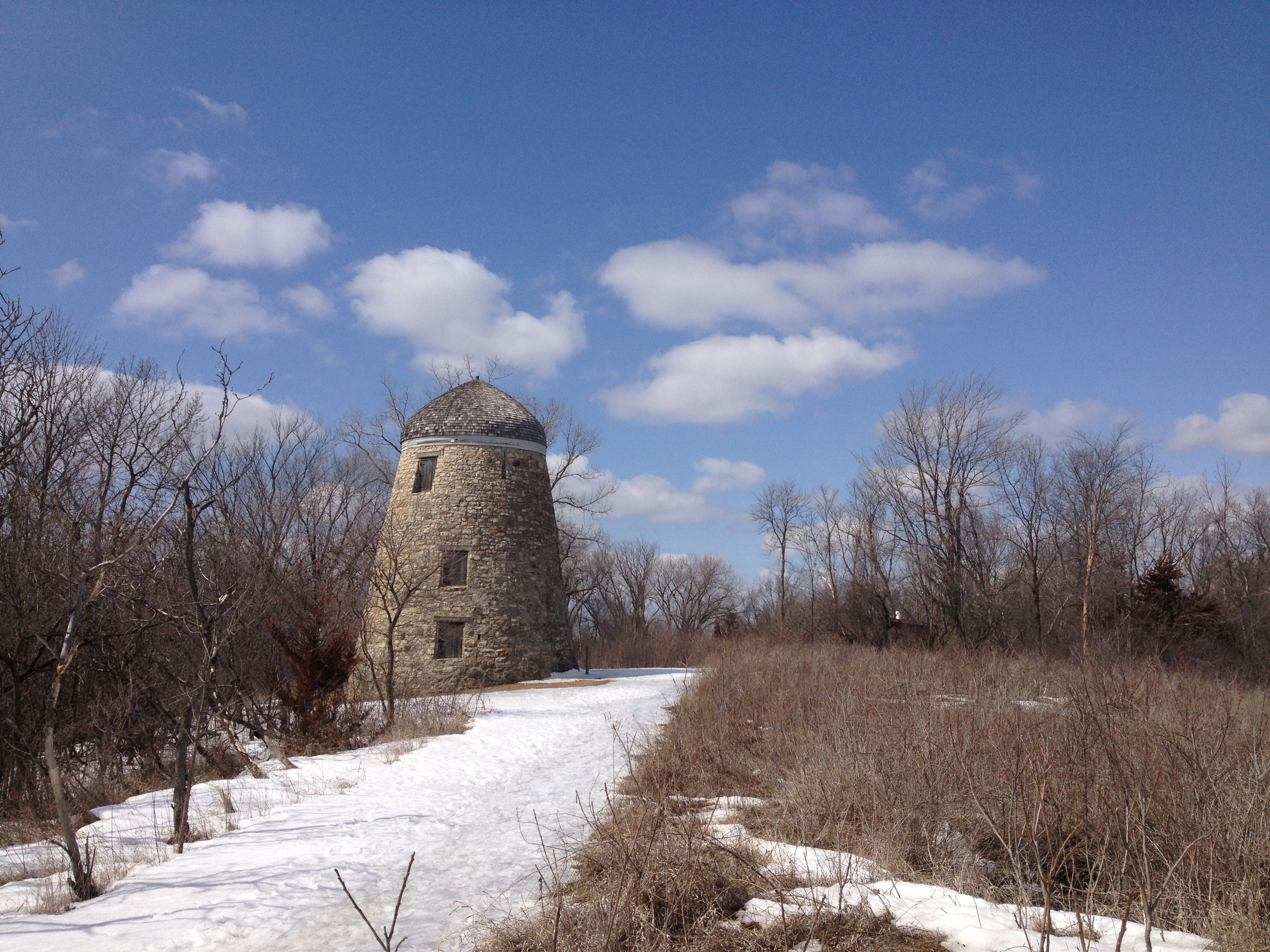 The old tower at Minneopa State Park