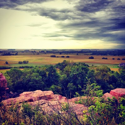 View from the mound at Blue Mounds State Park