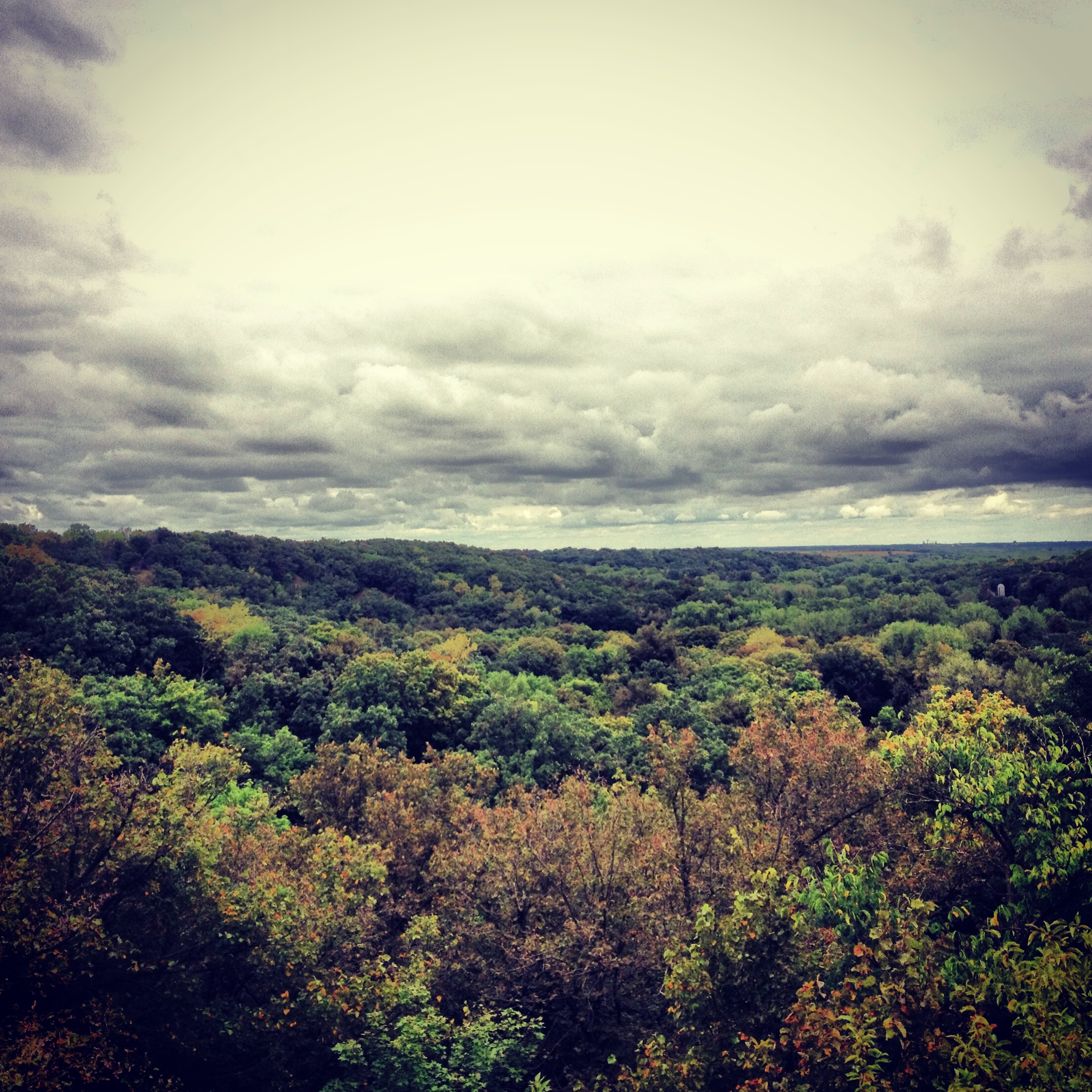 Looking at the River Valley at Camden State Park