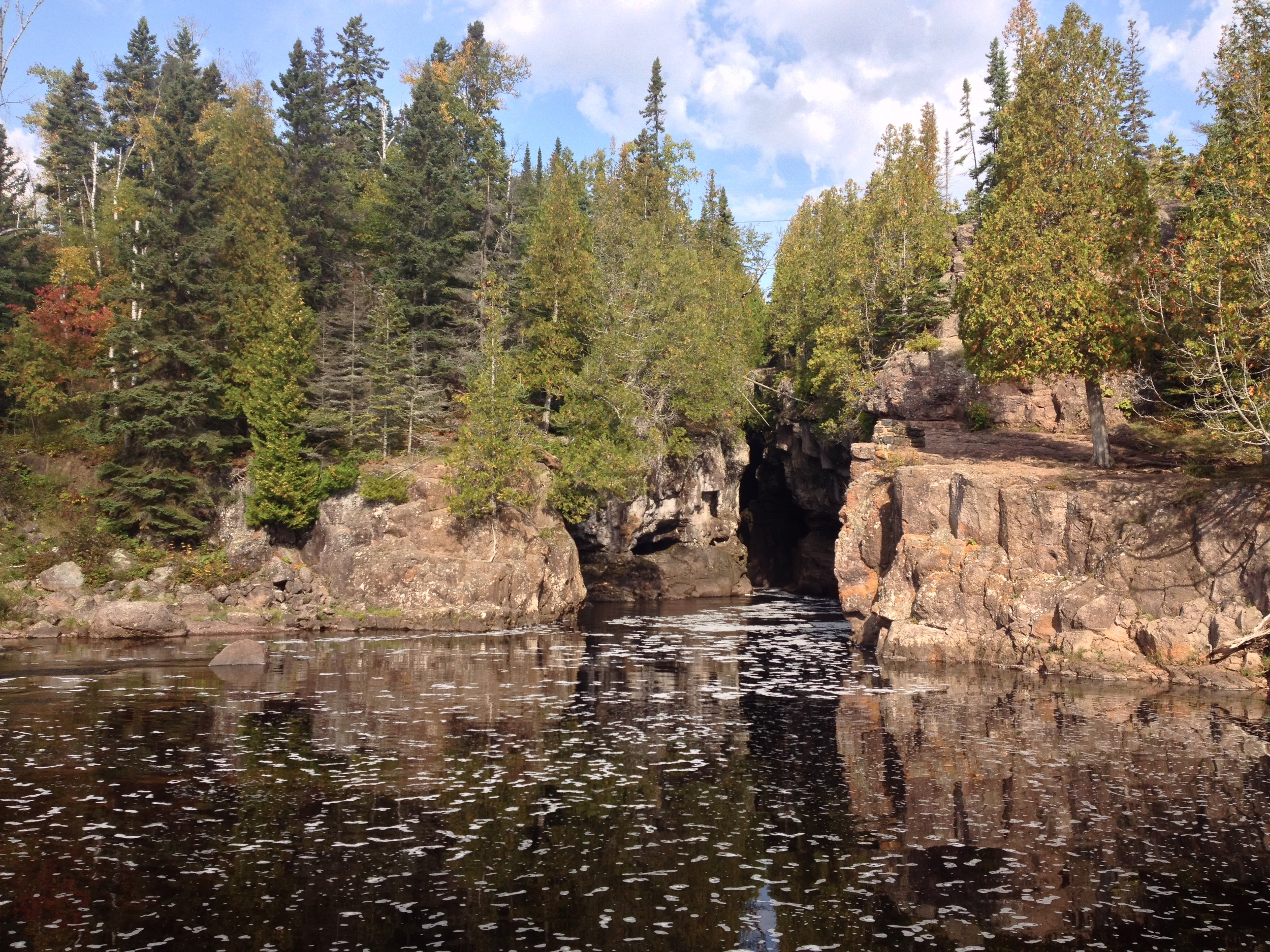 Cliff Jumping at Temperance River State Park