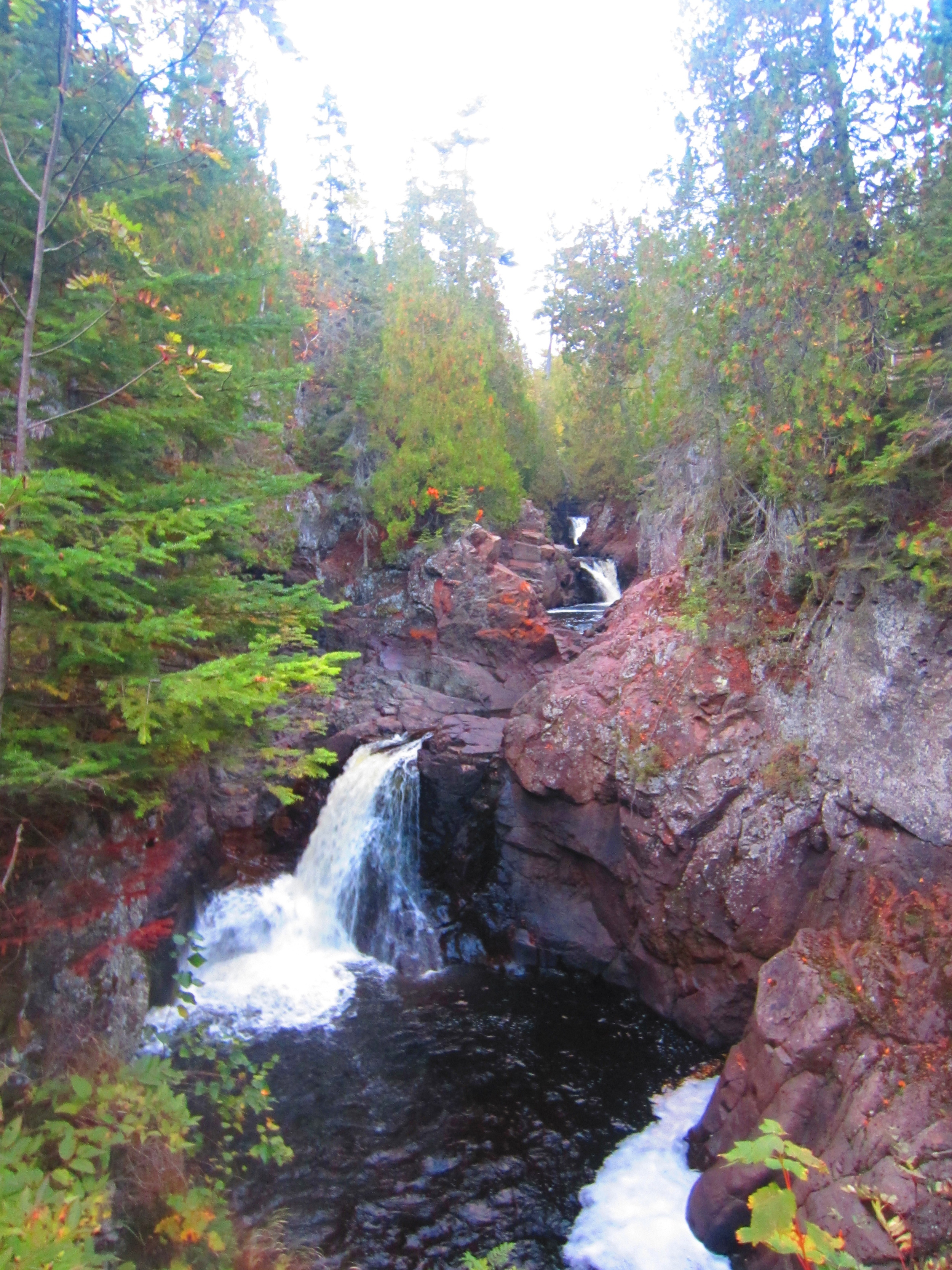 Waterfalls at Cascade State Park in Minnesota