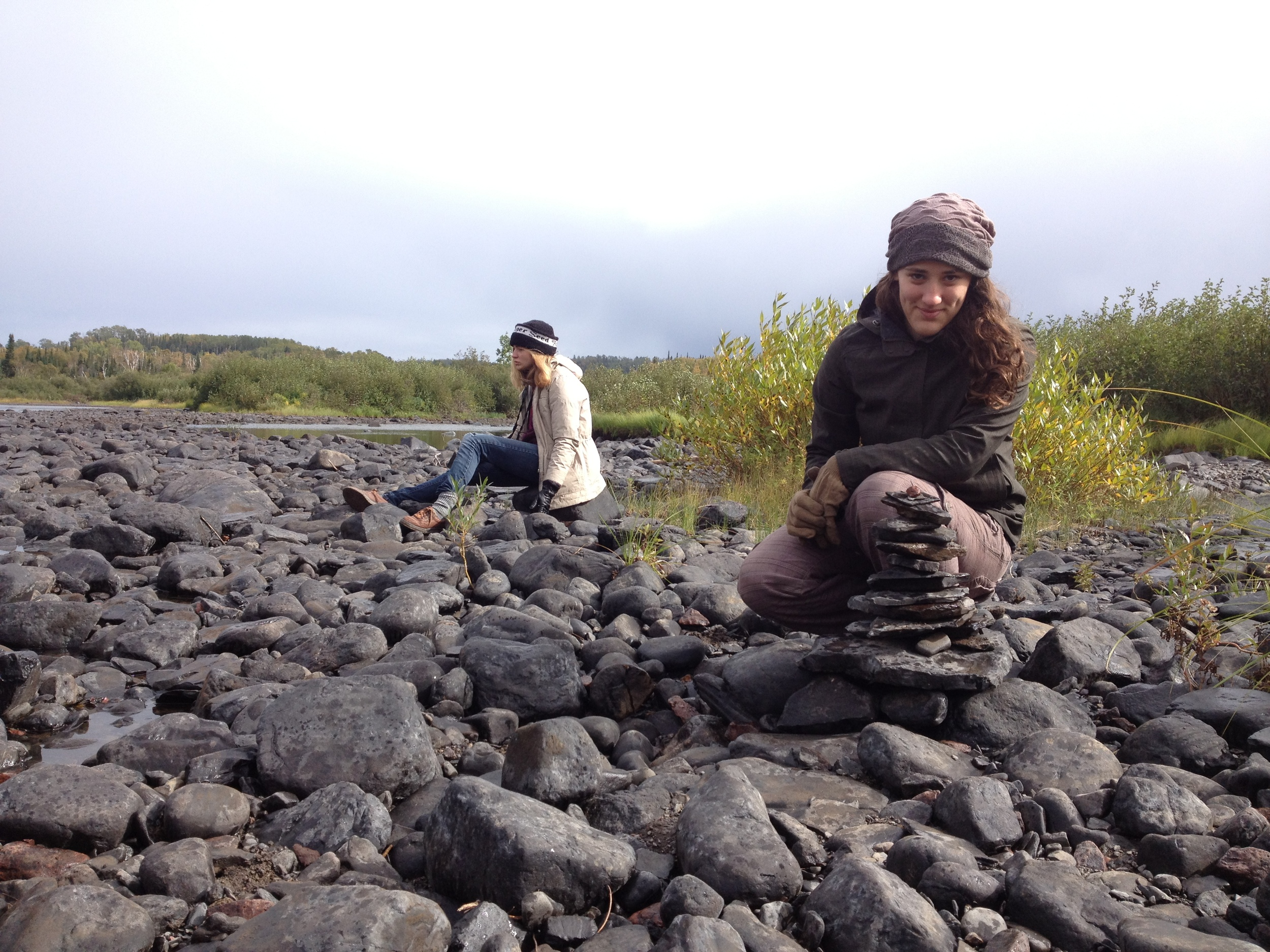 Rock Collecting at Cascade River State Park