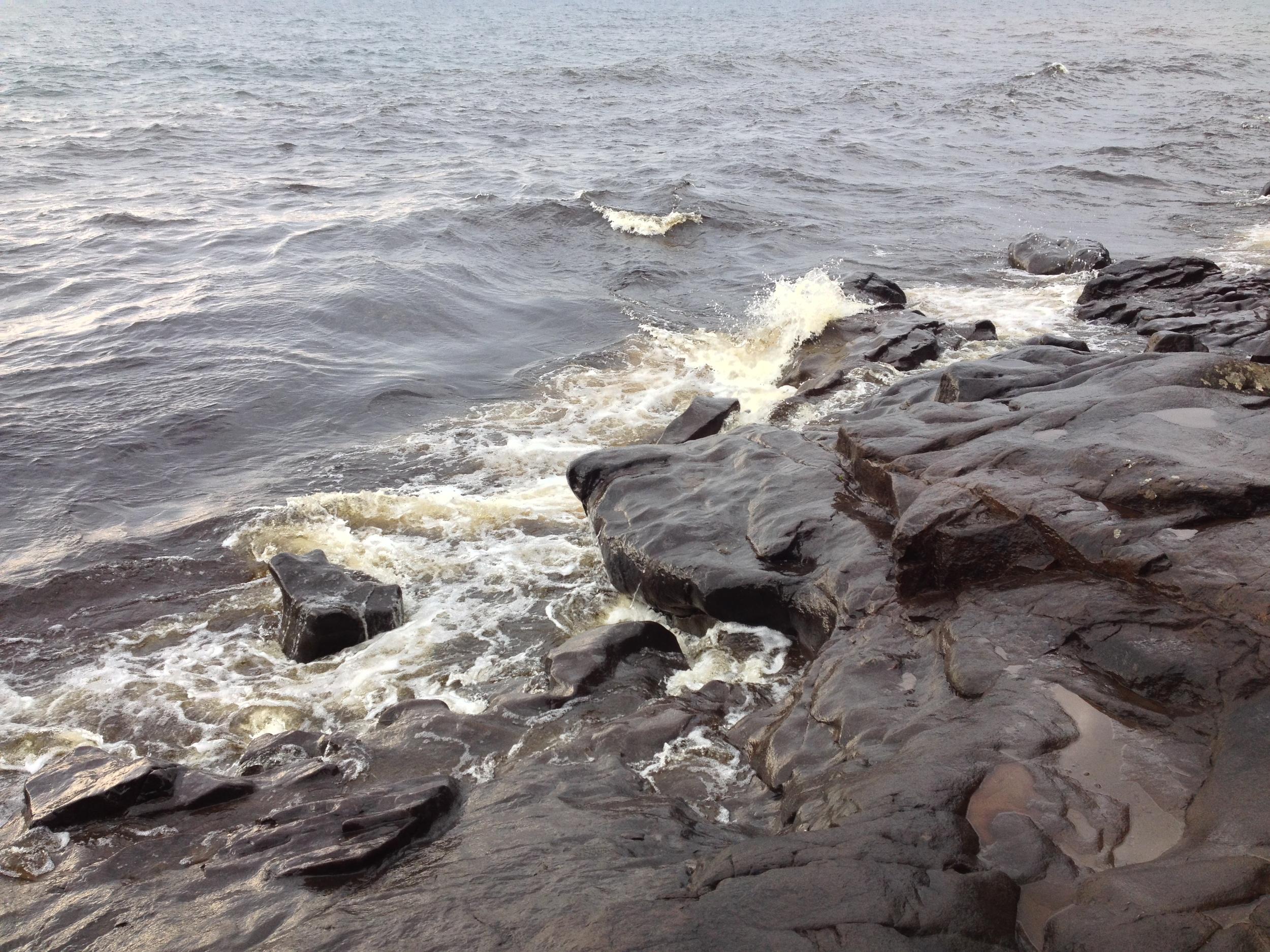 Rocky Lake Superior shore at Cascade River State Park