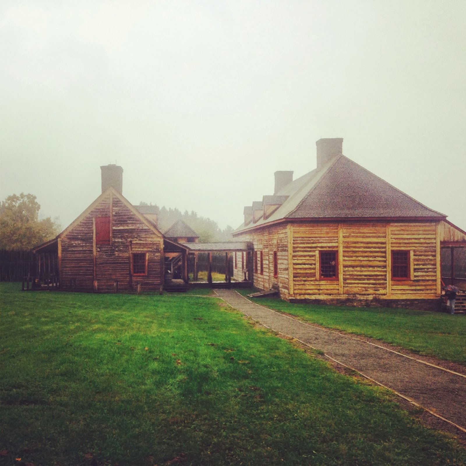 The reconstructed trading post at Grand Portage National Monument.