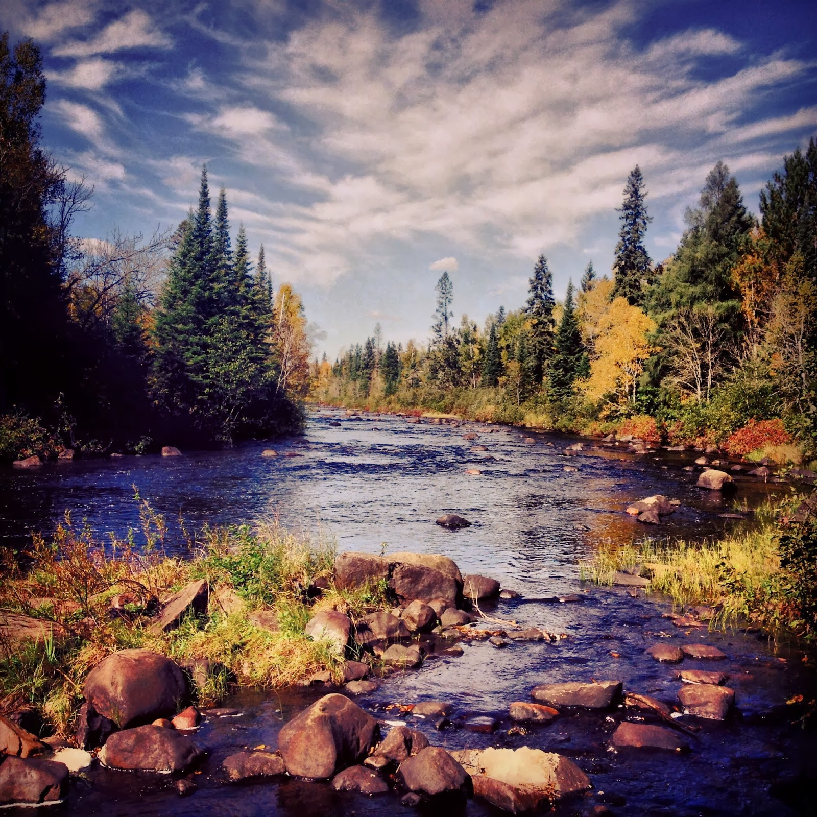 A typical river scene in Superior National Forest
