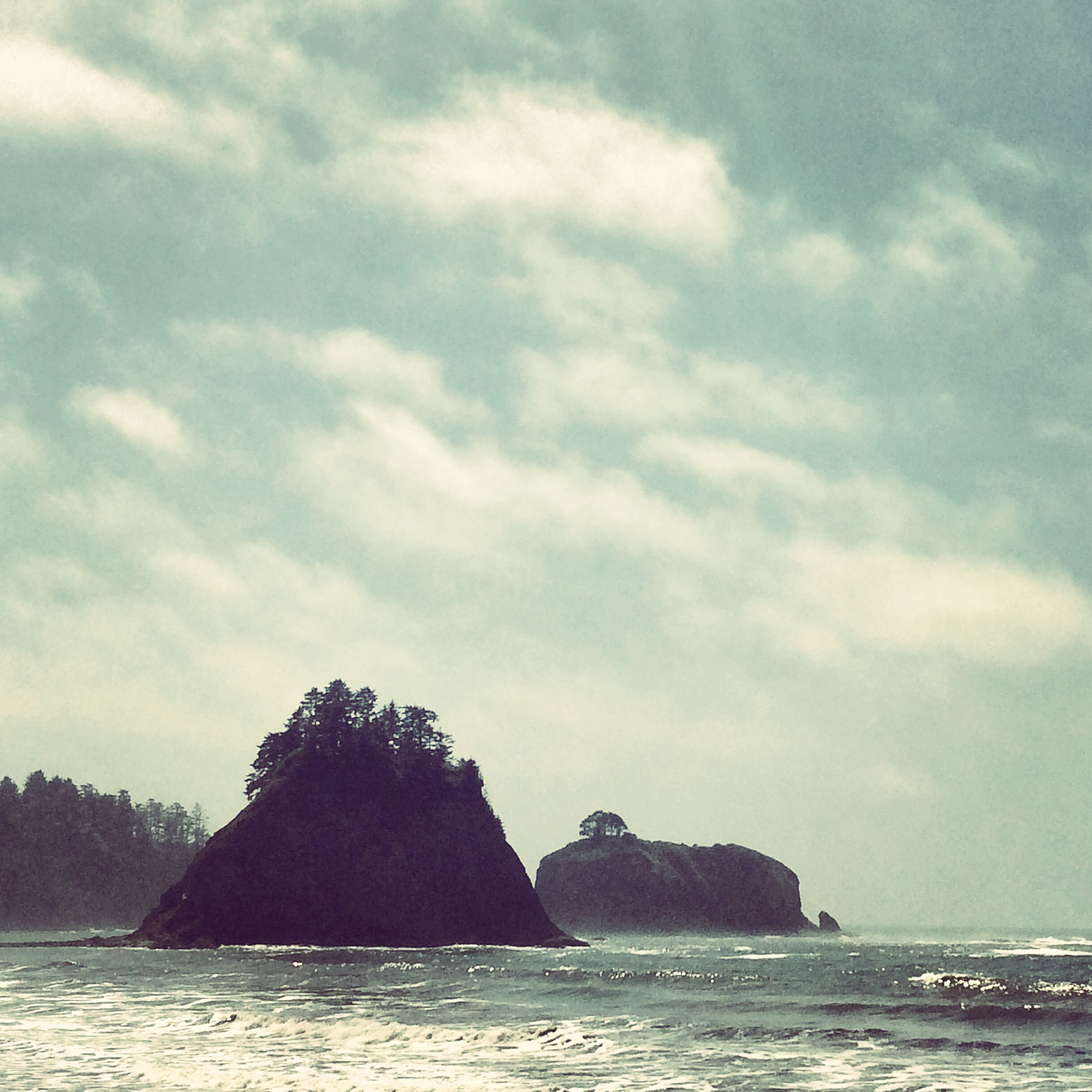 Sea Stacks at Second Beach along the Pacific Coast Highway 101 in Olympic National Park