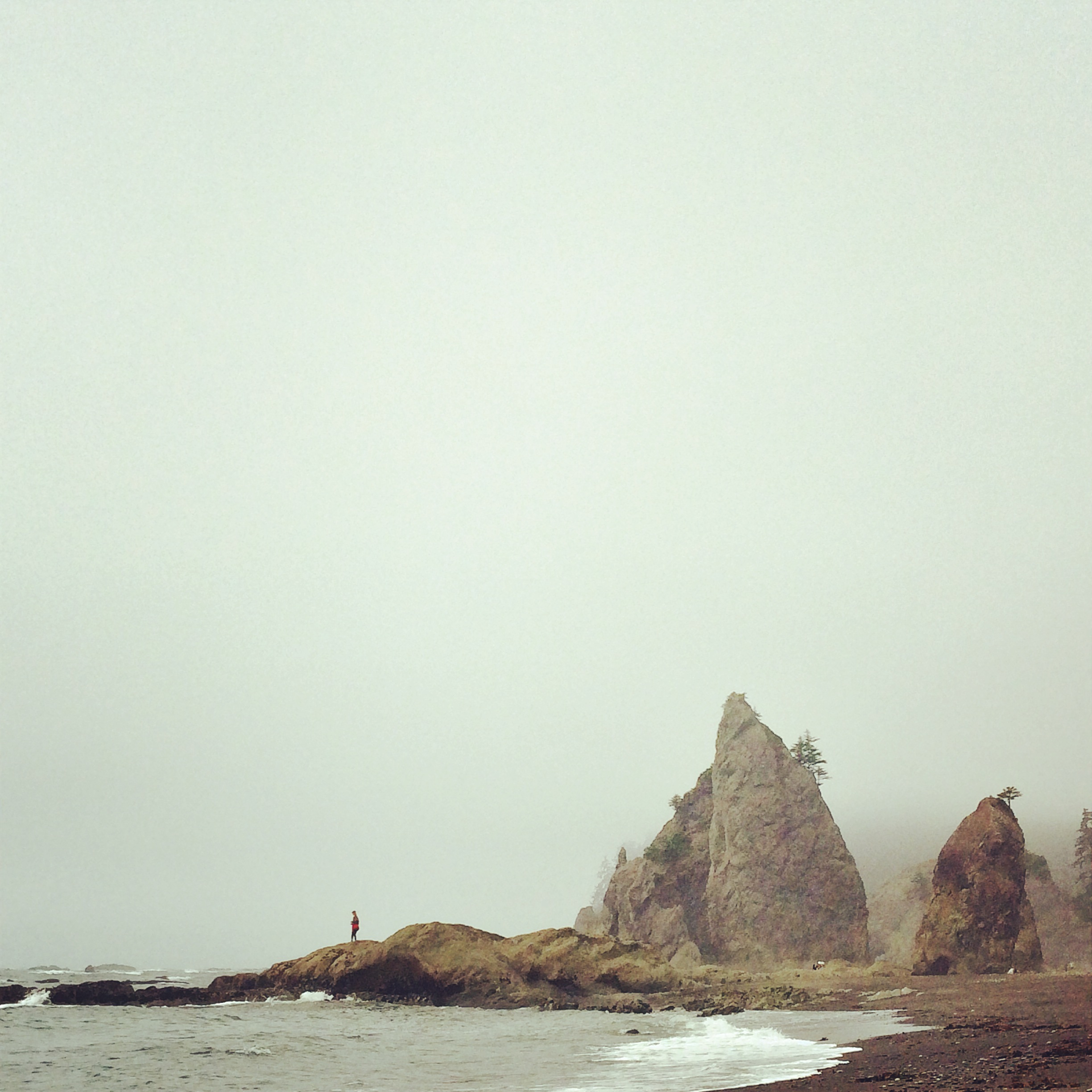 Foggy morning at Rialto Beach in Olympic National Park