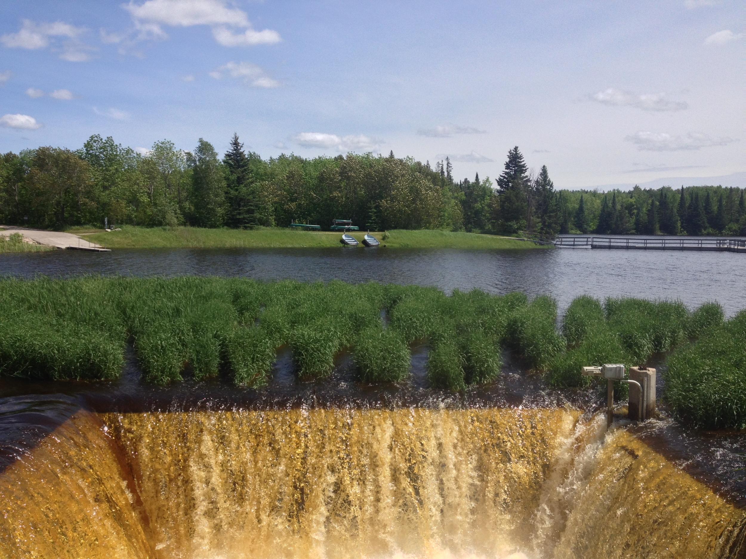 The Lake Hayes Dam