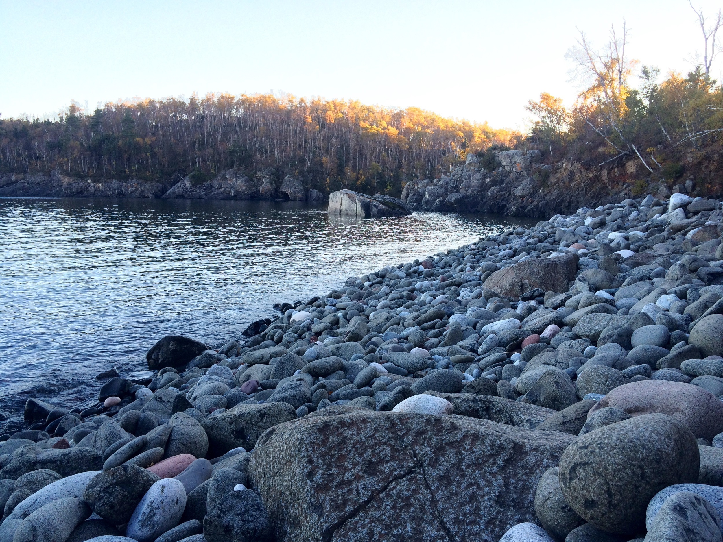 Rocky Beach off of the Hiking Club Trail