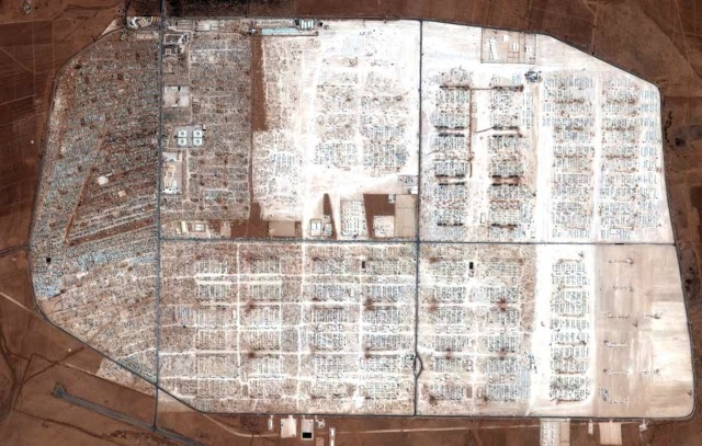 The Zaatari Refugee Camp holds roughly 120,000 Syrian refugees (photo by Buzzfeed).jpeg