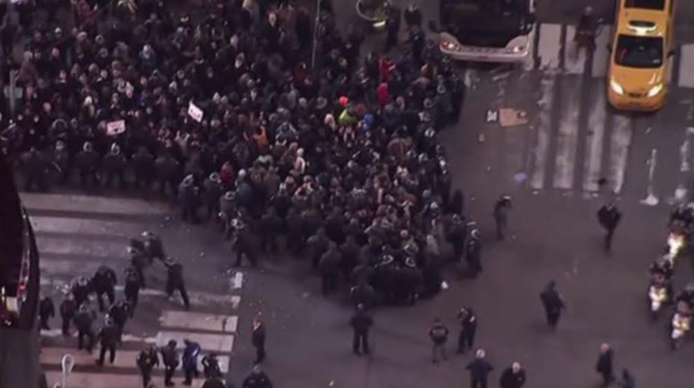 #BlackLivesMatter protest, New York City, December 2014