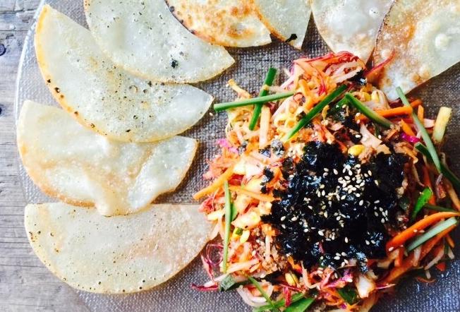 비빔만두 Spicy Bibim Mandoo $14.95