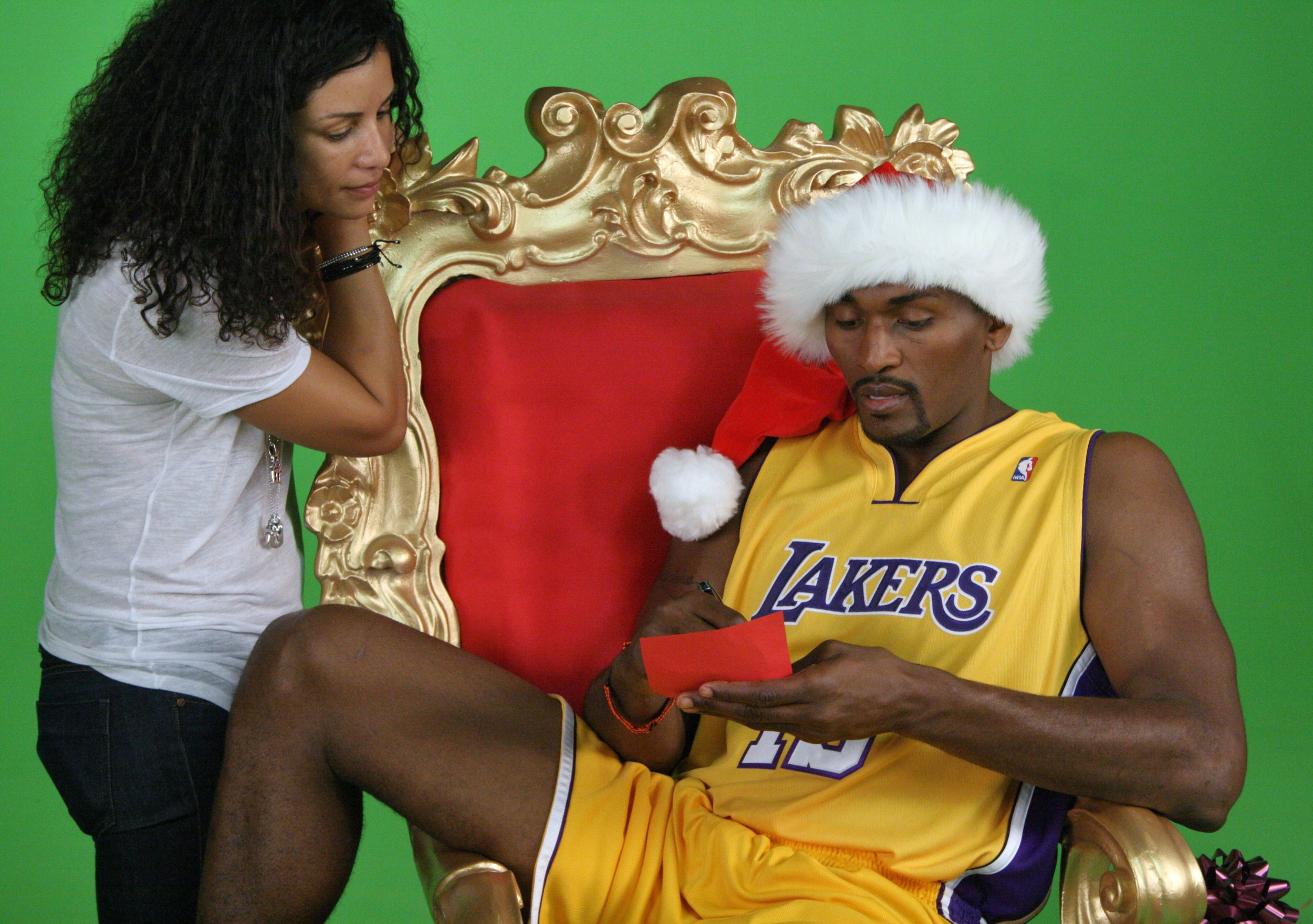 Melissa Meister and Ron Artest.jpg