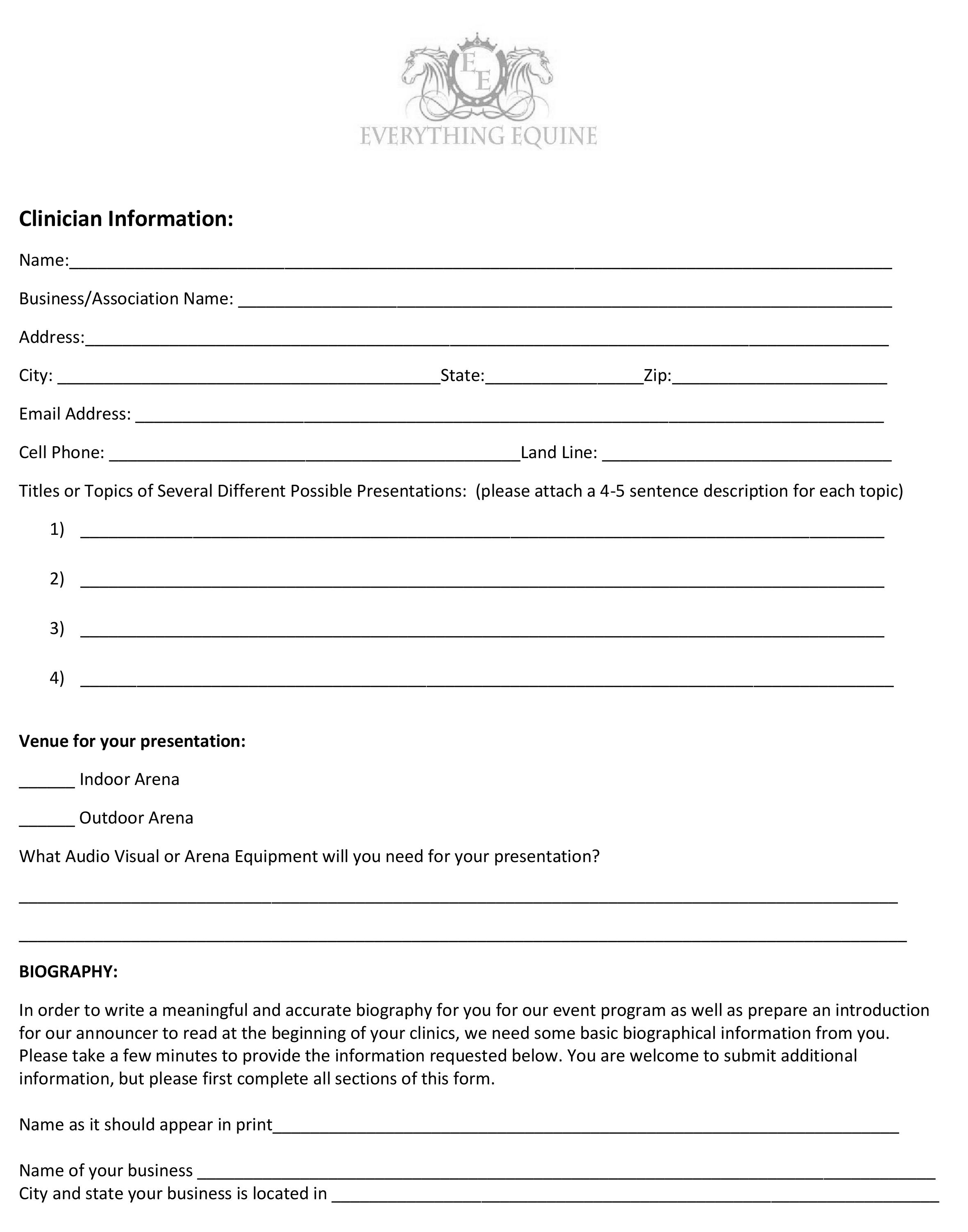 Clinician Ap page 1