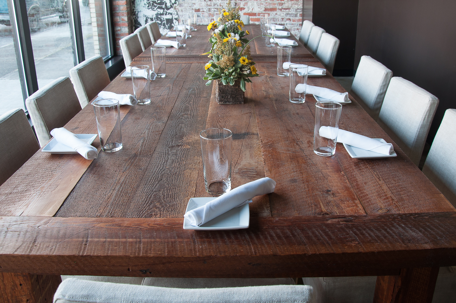 Fancy Fixings Table at Chef & the Farmer