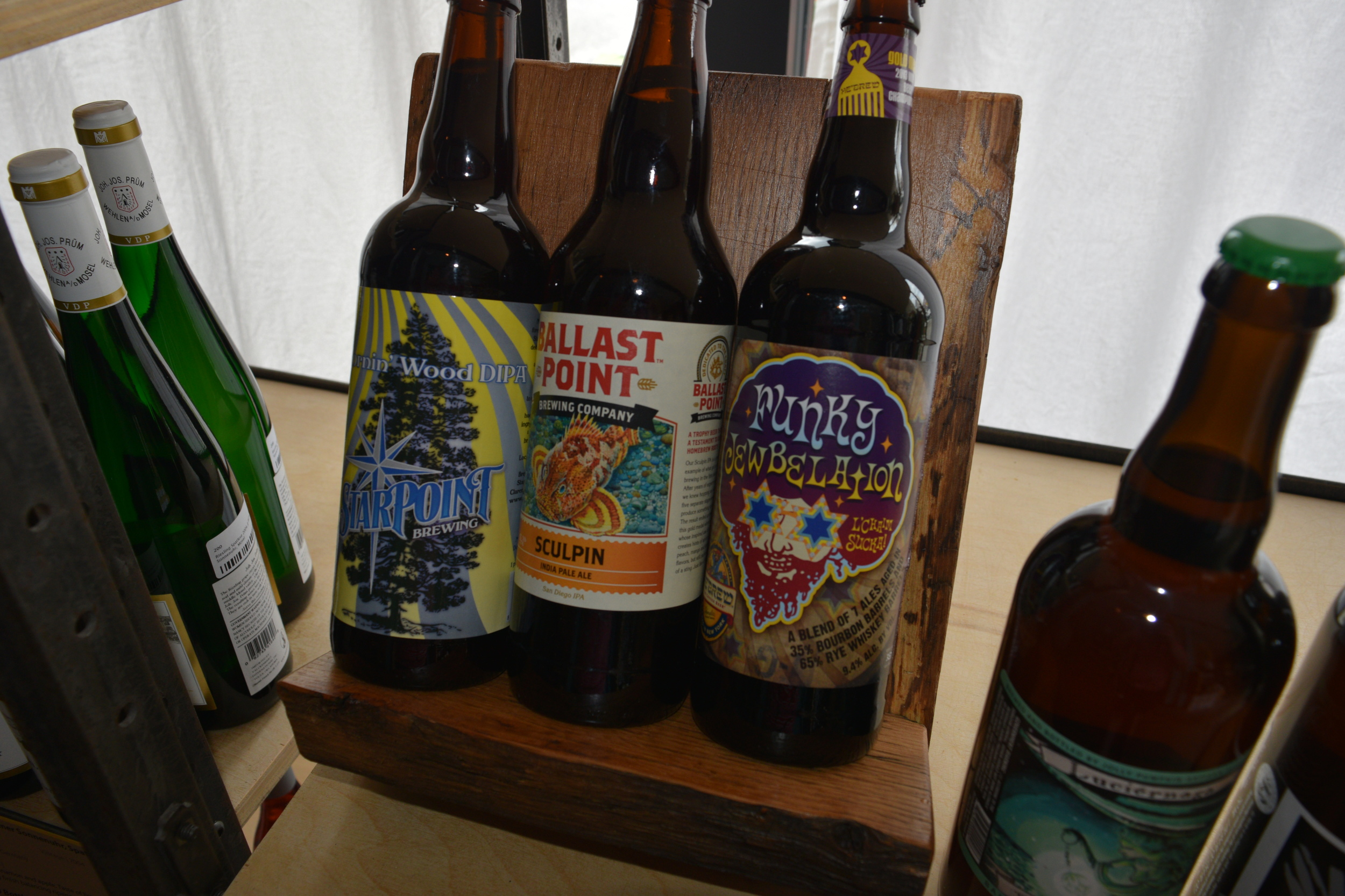 Custom Wooden Bottle Display