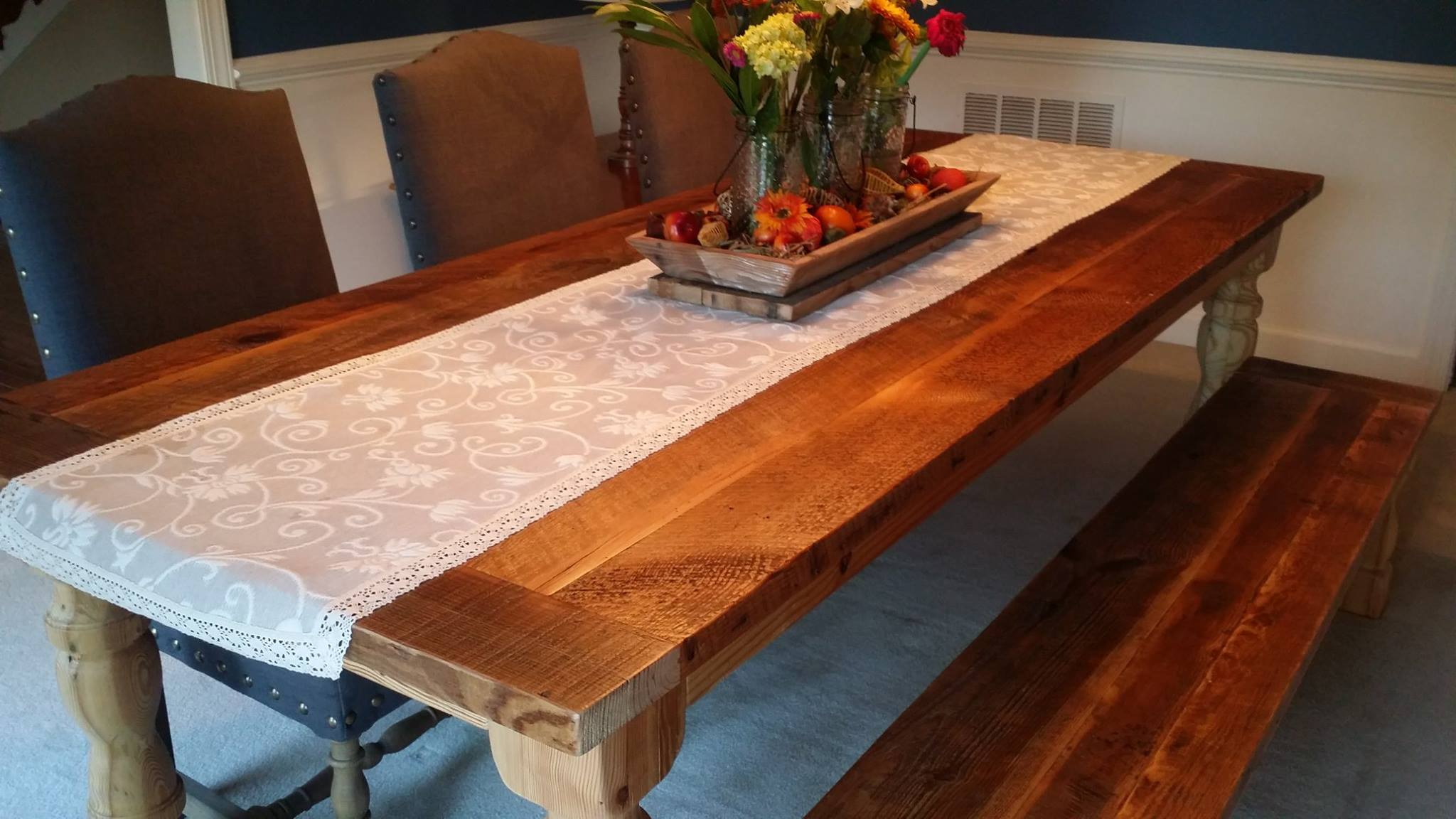 Dining Room Table with Breadboard