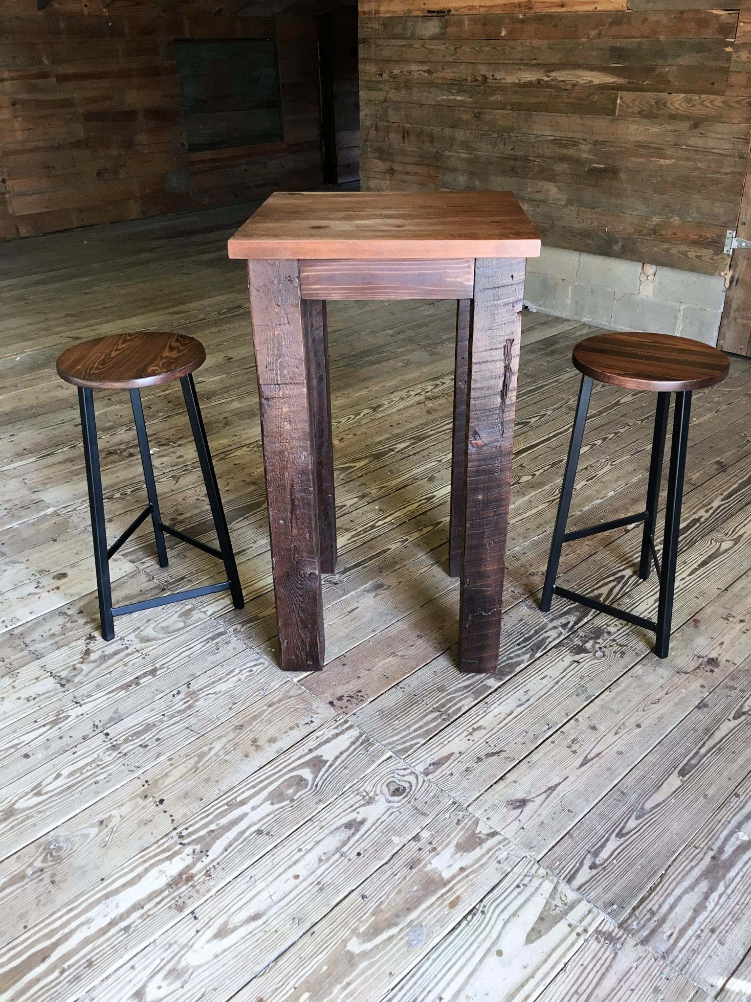 Small table and matching bar stools