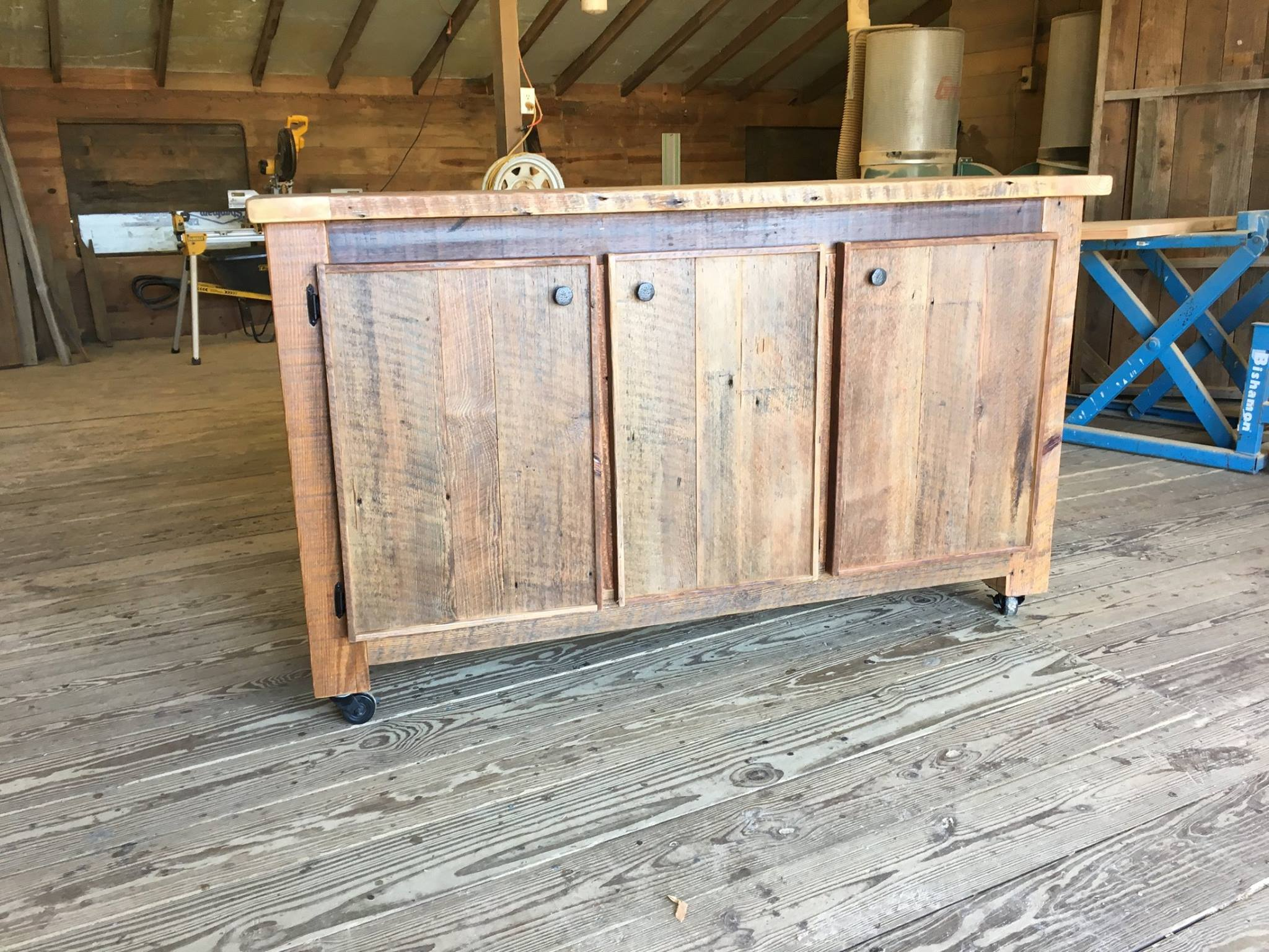 Custom constructed of reclaimed barn wood