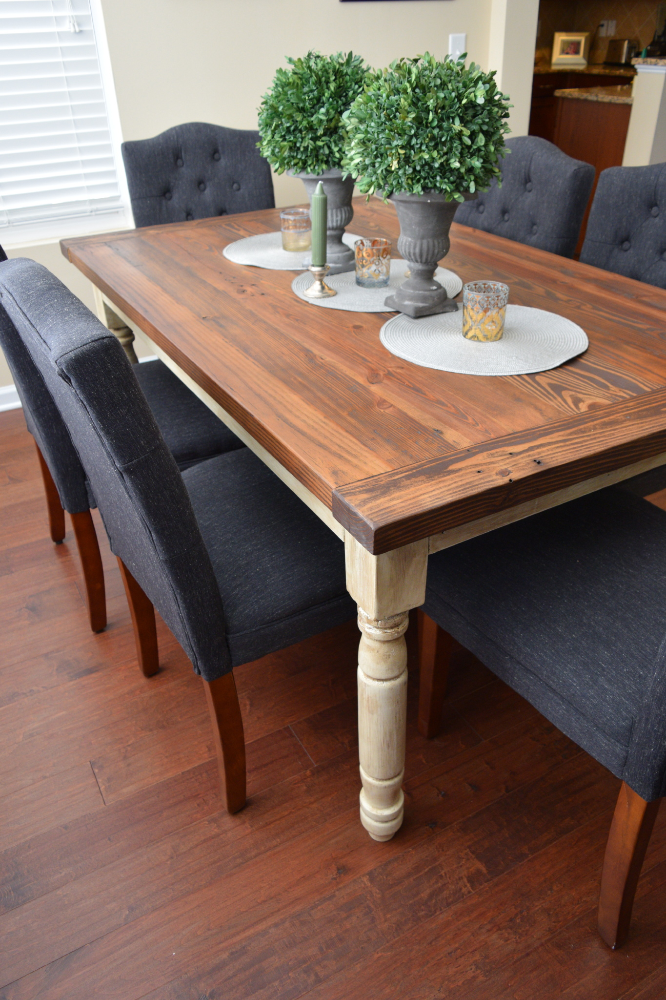 Kitchen Table with Turned Legs