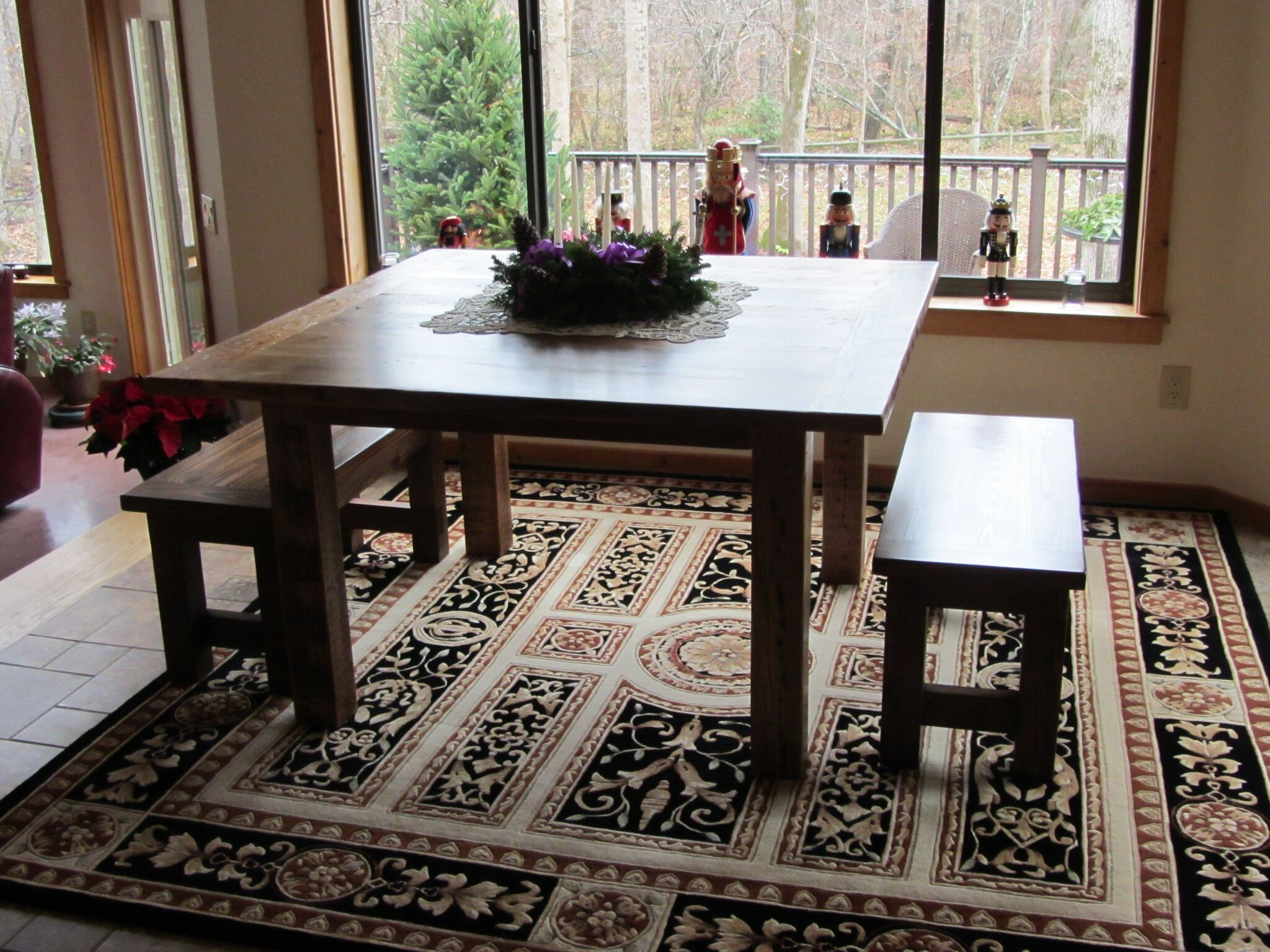 Custom Made Kitchen Table and Benches