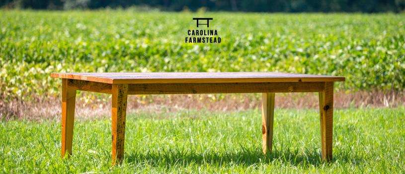 Reclaimed Wood Harvest Table