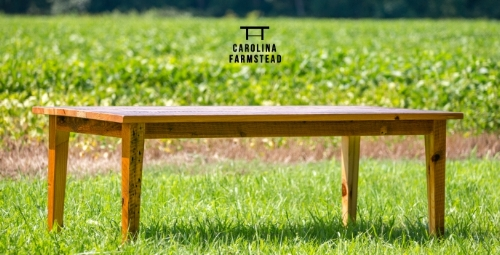 Reclaimed.Handcrafted.Heirloom.  - Add Farmhouse charm to your dining room and make memories around your table with a Carolina Farmstead dining set. Designed to look and feel antique while maintaining the proportions and functionality required of modern lifestyles, Carolina Farmstead furniture is proud to offer truly distinctive options for your home. Our made-to-order process allows us to transform wood salvaged from old houses and farm buildings into perfectly customized pieces of furniture.