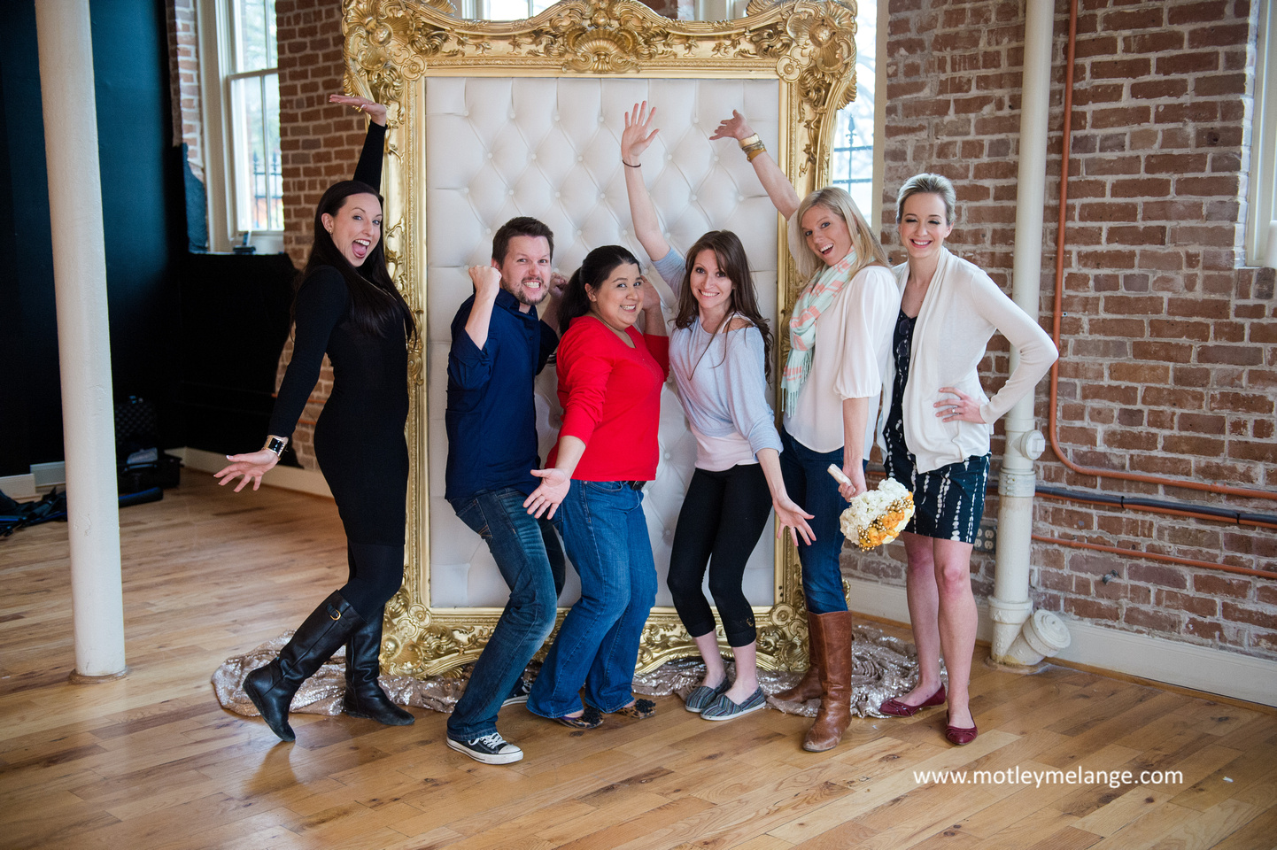 All of the vendors from the styled shoot having a little fun once we wrapped. Great team!
