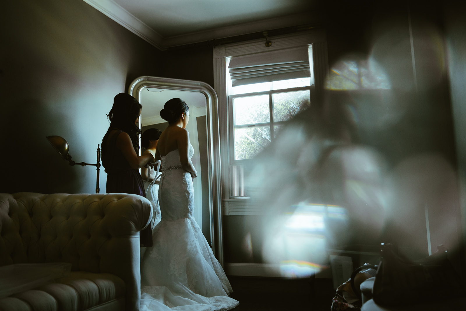 Getting ready in the Bridal Suite.