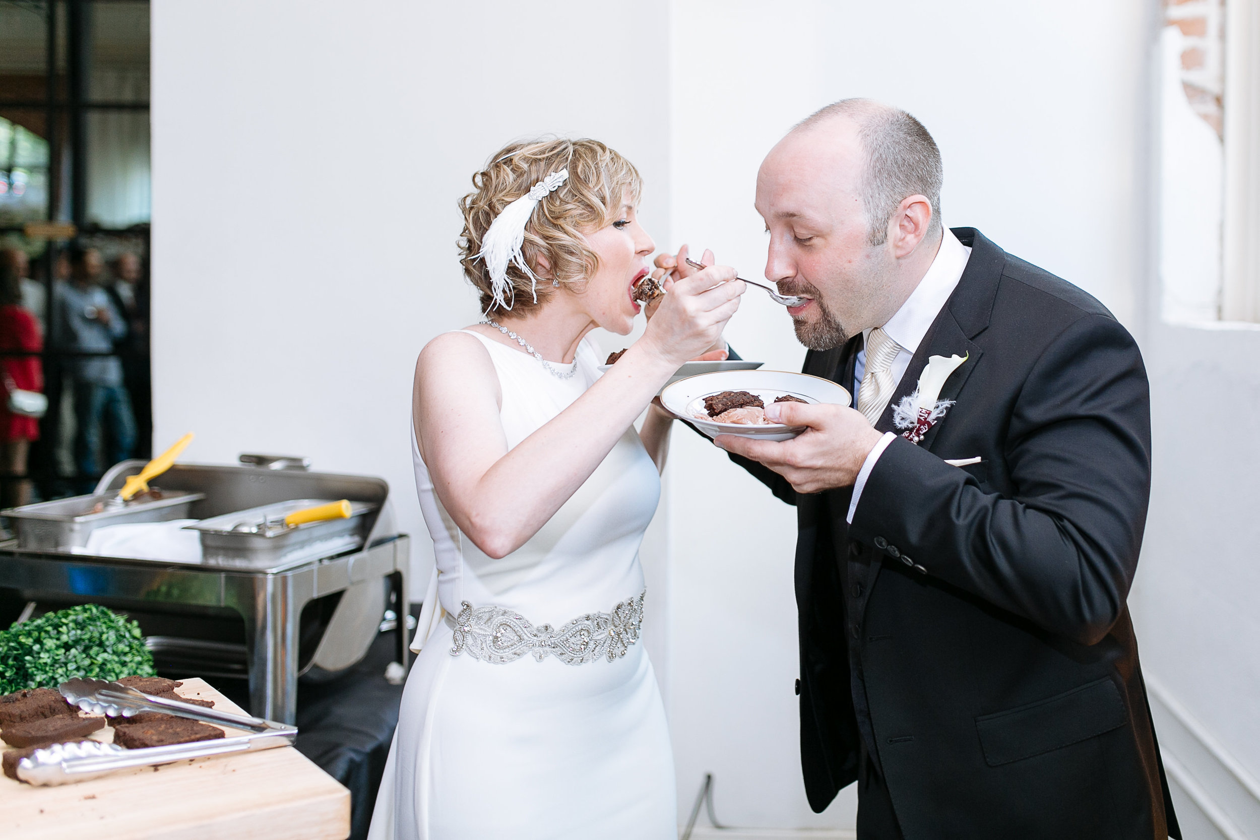 In lieu of a Wedding Cake the couple did a Brownie & Ice Cream Bar