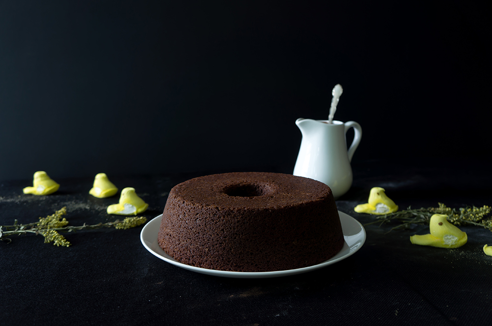 How to decorate a chocolate banana cake.
