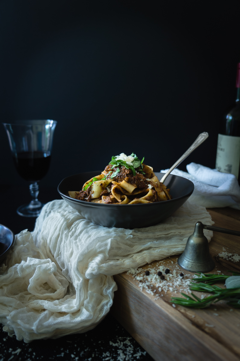 Pappardelle with veal ragurecipe.