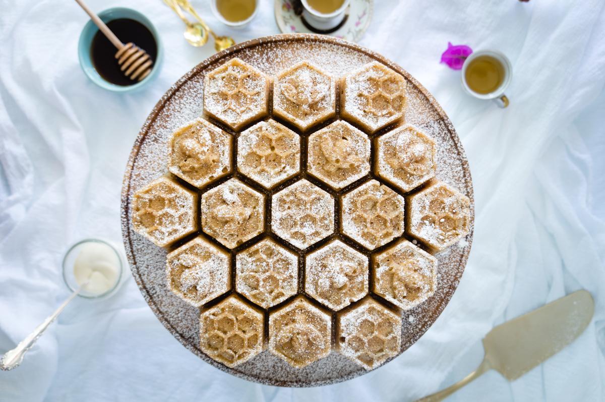 Honey and coconut cake