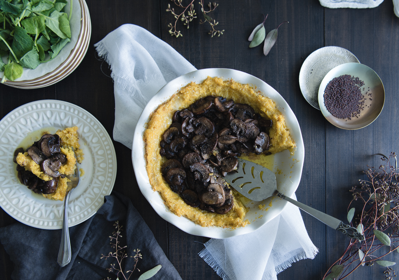 Sweet plantains mushroom pie