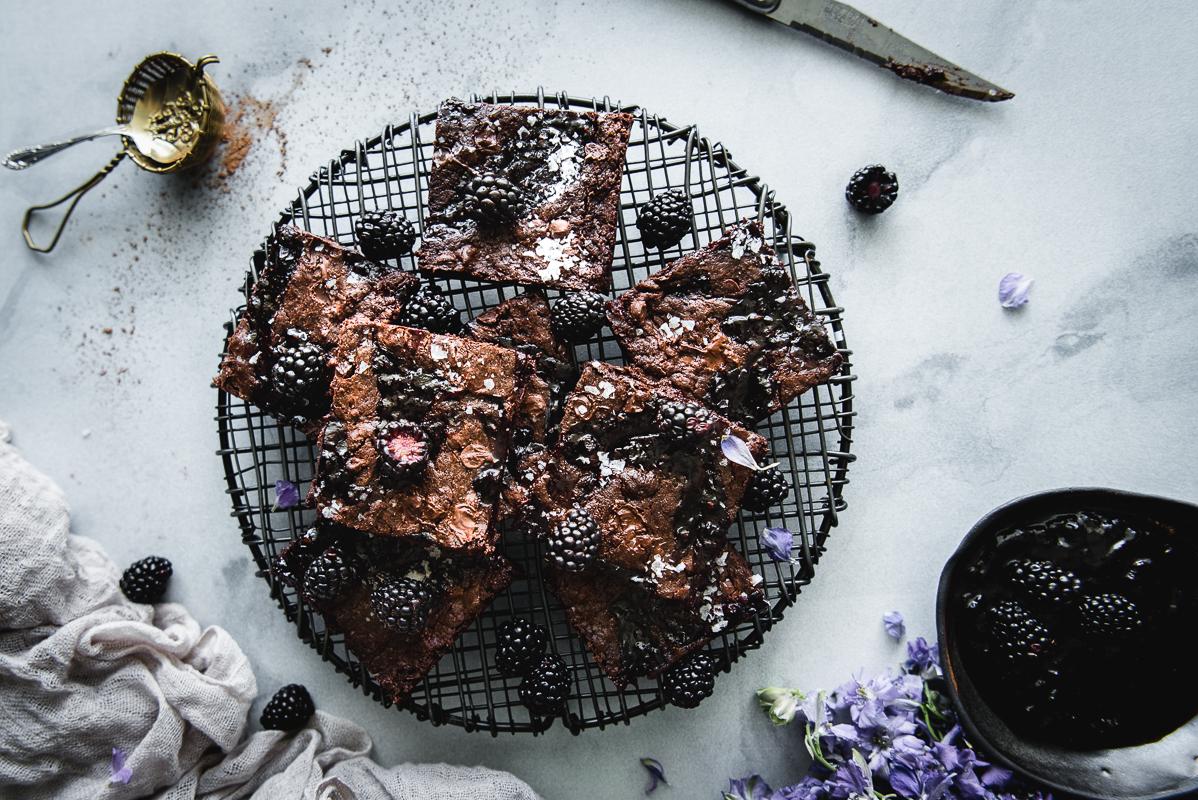 Brownies made with brown sugar