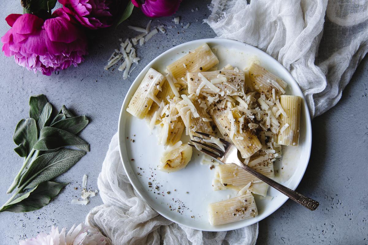 Creamy pasta sauce with coconut milk